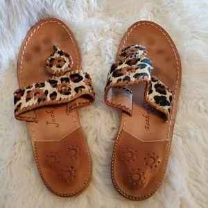 Jack Roger's leopard print sandals thongs